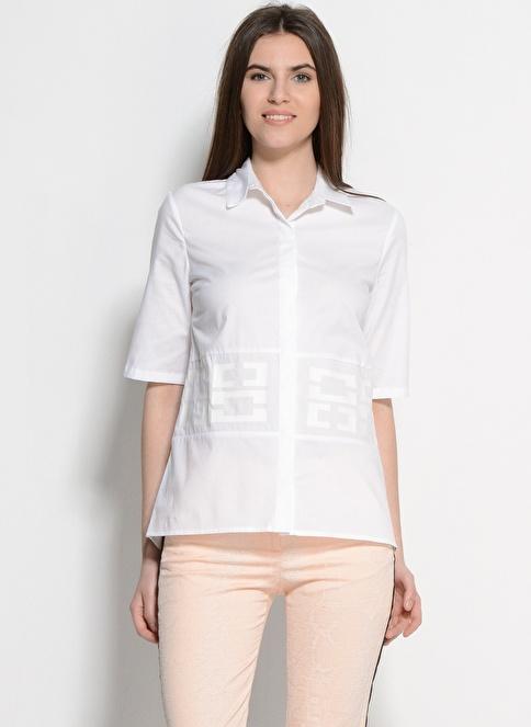 Asymmetry Bluz Beyaz